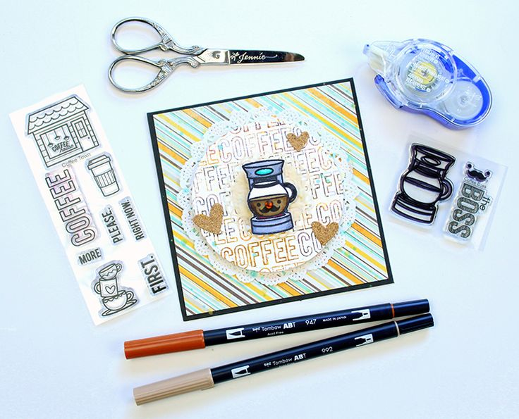 This week we are hanging out with our friends from Sweet Stamp Shop! Check out this post to learn about multi-color stamping with the Tombow Dual Brush Pens