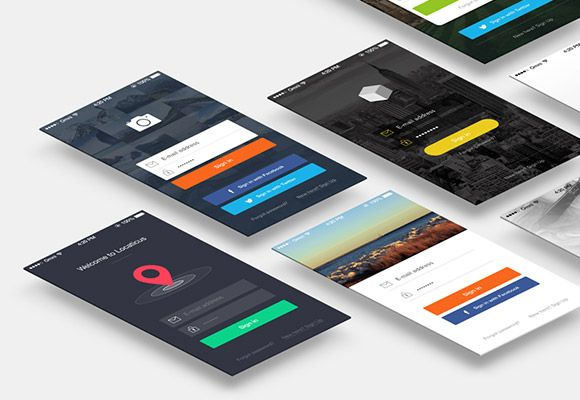 Here is a set of7 sign in screens for mobile apps. Free PSD created and released byDeividas Graužinis.