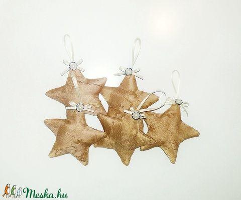 Textil karácsonyfadíszek - csillag (SZOFIsticated) - Meska.hu