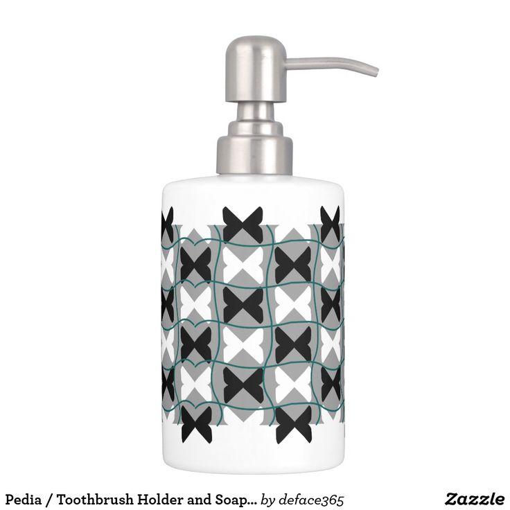 Pedia / Toothbrush Holder and Soap Dispenser Set