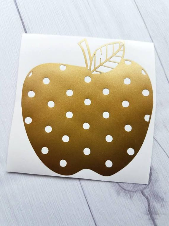 Hey, I found this really awesome Etsy listing at https://www.etsy.com/listing/541014630/polka-dot-apple-stickers-vinyl-decal-for