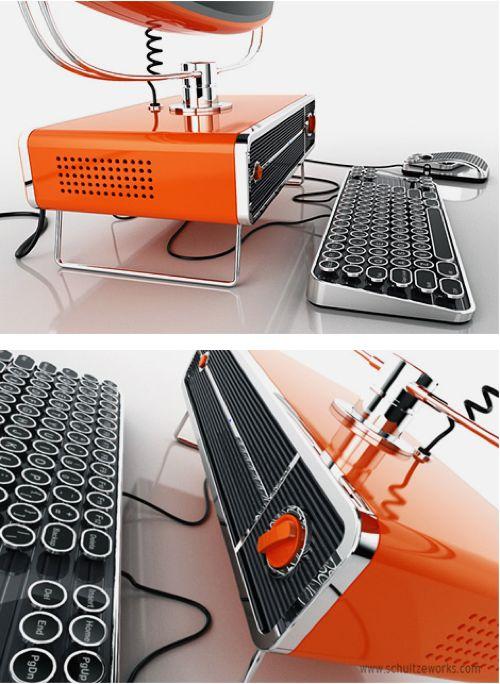 Retro PC  The retrocool Philco PC concept fromSchultzeWORKS designstudiotakes it's inspiration from the 1954 design classicPhilco Predicta TV.