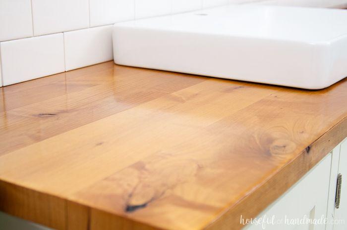 how to build a bathroom vanity top