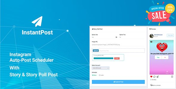 Instantpost - Instagram Auto Poster Nulled | Nulled Wordpress Themes