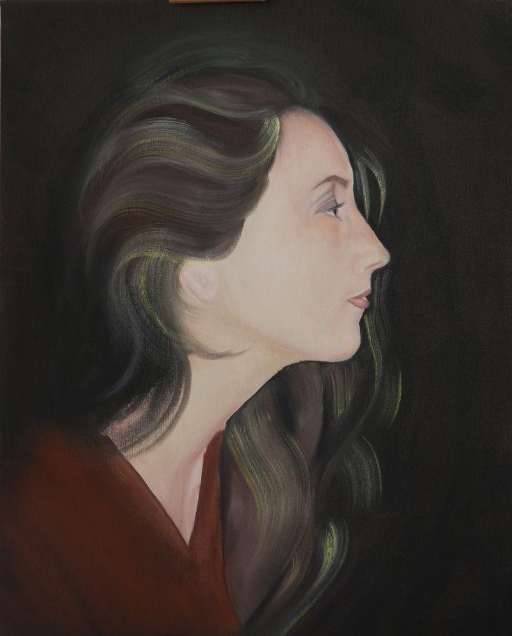 Eleganza (foto precedente alla rifinitura finale) _ olio su tela e vernice smaltata (2015)