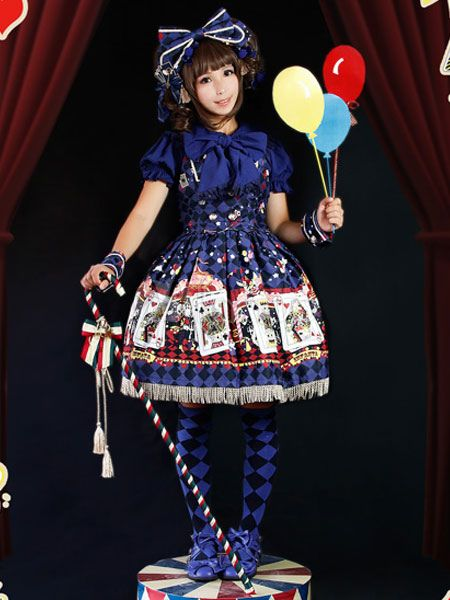 Poker JSK Lolita Jumper Skirt-No.8
