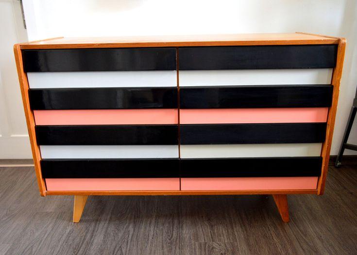 Excited to share the latest addition to my #etsy shop: Vintage Design Storage https://etsy.me/2F333jA #furniture #black #white #minimalist #livingroom #jirijiroutek #chestofdrawers #60s #sideboard