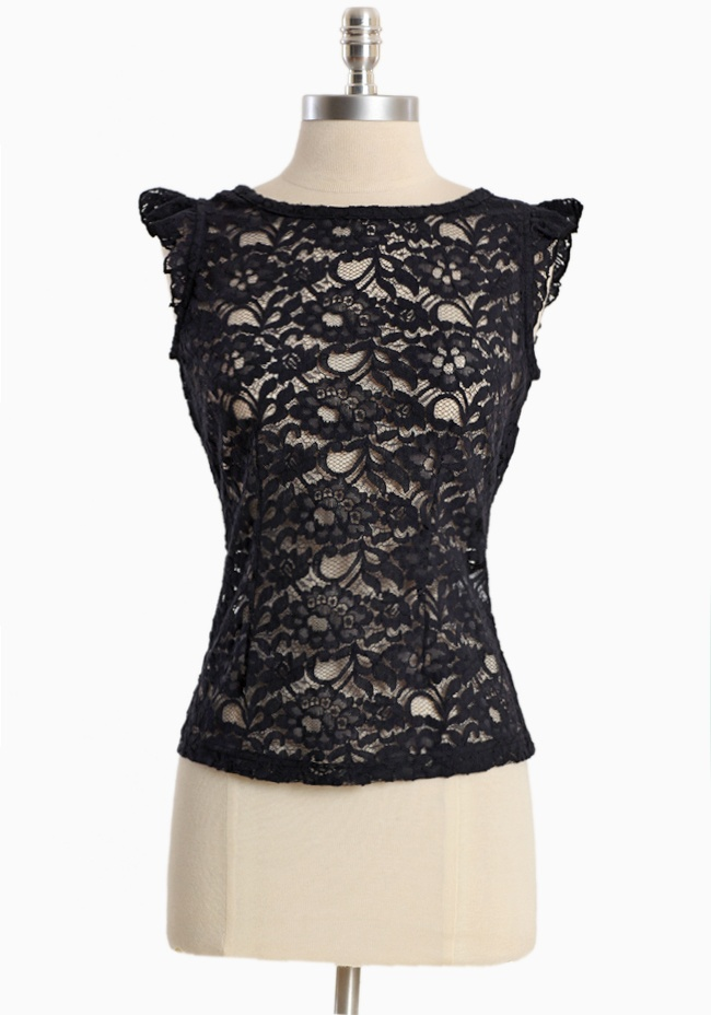 Feeling Good Black Lace Top By Tulle: Skinny Jeans, Sheer Black, Black Laces, Pencil Skirts, Love Lace, Tulle 42 99, Lace Shirts, Black Lace Tops, Feelings