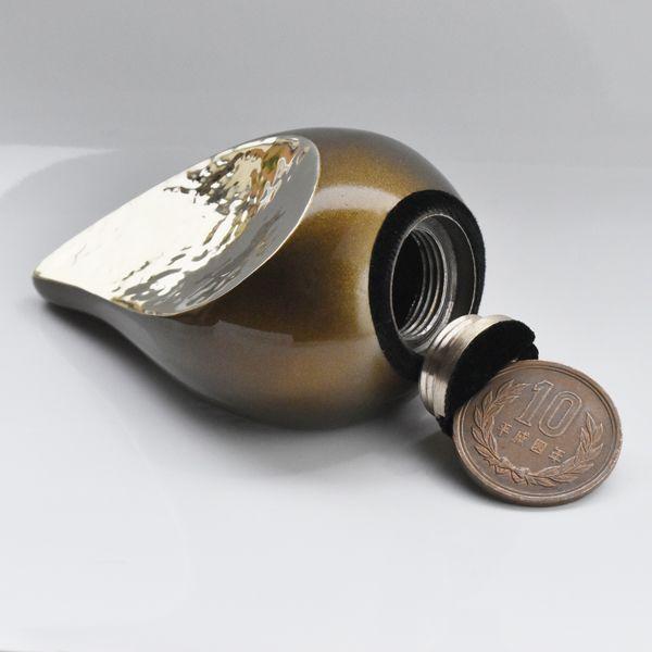 ミニ骨壷 ティアドロップ オブジェタイプの分骨骨壷 ブラック 真鍮製 手元供養専門店 未来創想 手元供養の未来創想 ミニ 供養 仏具