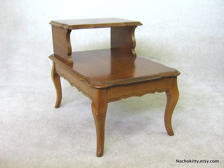 Exceptional 1960s Maple Two Tiered Side Table Early American Solid Wood Craftsmanship  Price $245.00 USD
