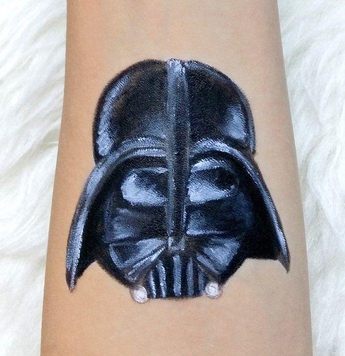Darth Vader from Star Wars #makeup #painting #starwars #darthvader #dartfener #bodypainting