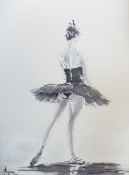 Buy Ballerina 7-Original ballet watercolor painting, Watercolor by Antigoni Tziora on Artfinder. Discover thousands of other original paintings, prints, sculptures and photography from independent artists.