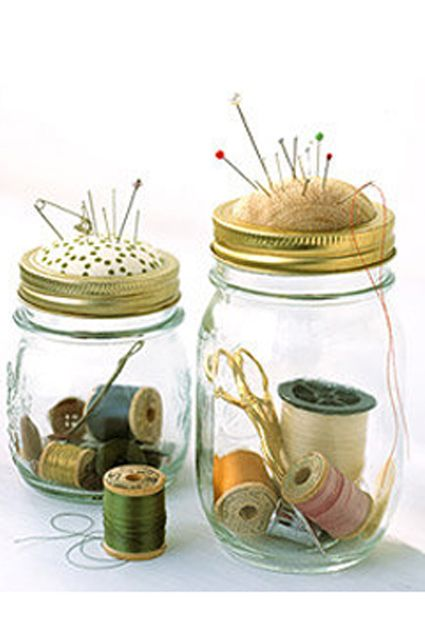 reciclar frascos . alfiletero