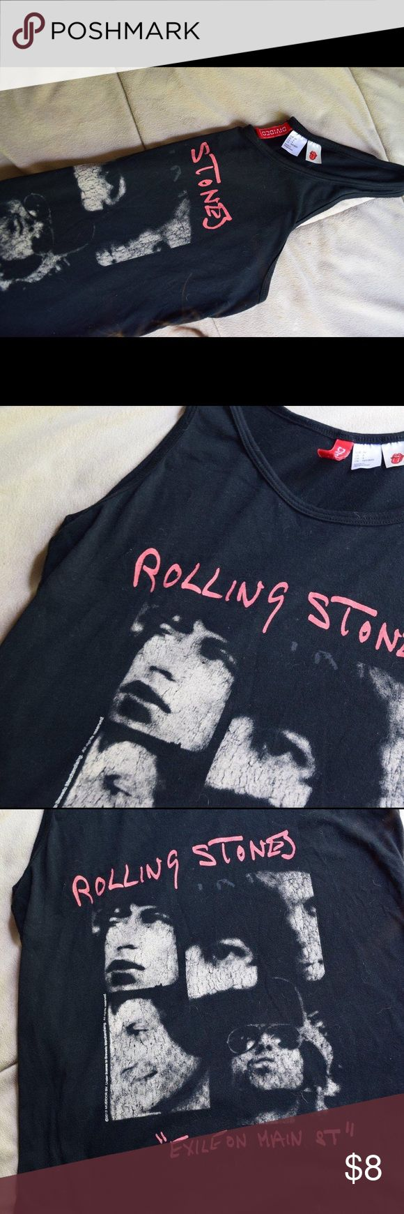 """H&M tank top H&M graphic tank top with the Rolling Stones album cover """"Exile on Main Street"""". It's in new condition! H&M Tops Tank Tops"""