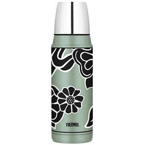 Thermos Vacuum Insulated  16oz Green Flower Bottle