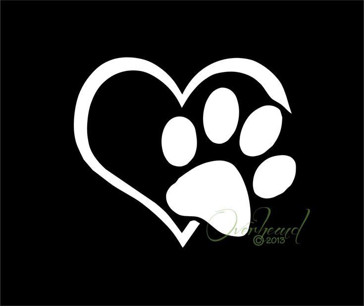 Paw with Heart I love my Dog Pet Window Vinyl Car by Overhemd, $5.49