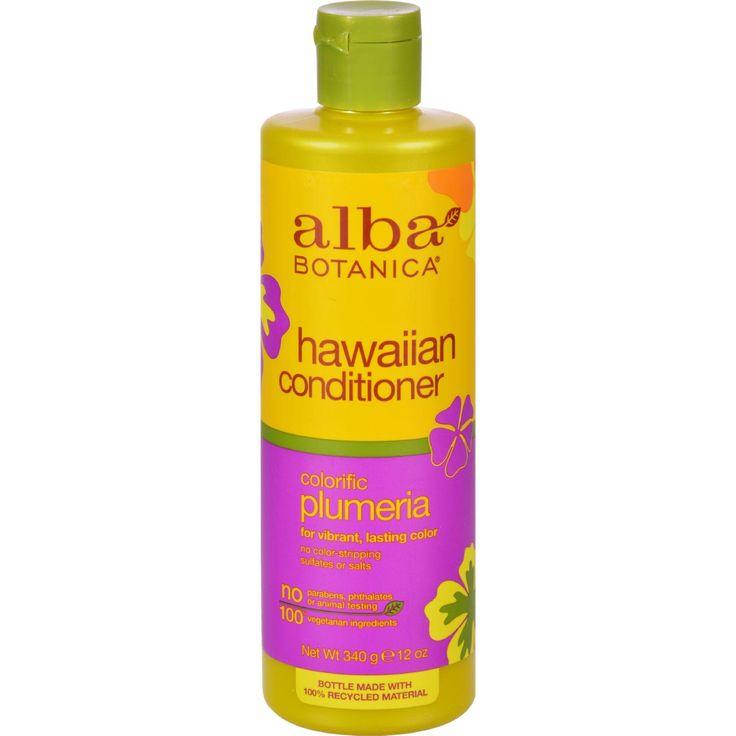 Alba Botanica Hawaiian Hair Conditioner Plumeria - 12 Fl Oz