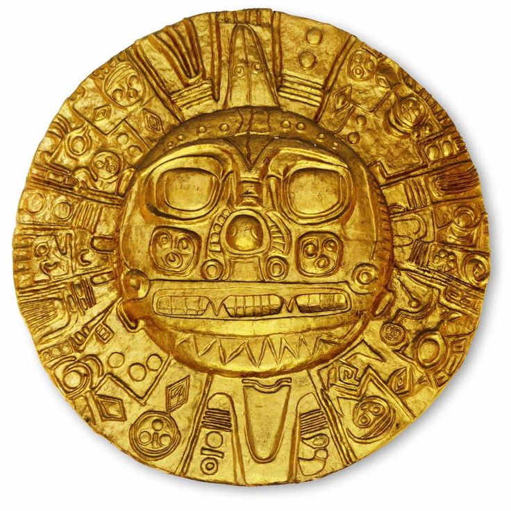 Inti is the ancient Incan sun god. He is revered as the national patron of the Inca state