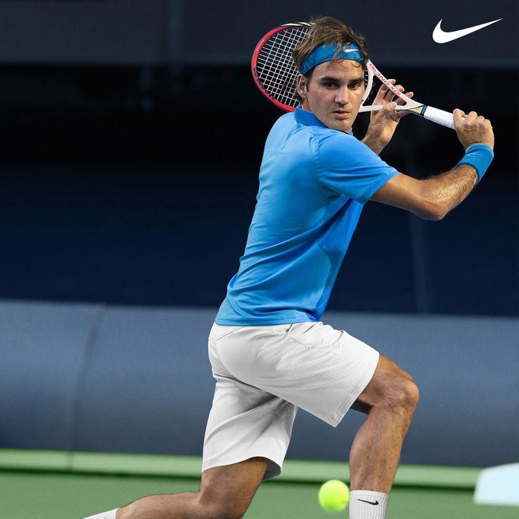 federer tennis | Nike Roger Federer Tennis Swoosh Bandana Day blau | online kaufen bei ...