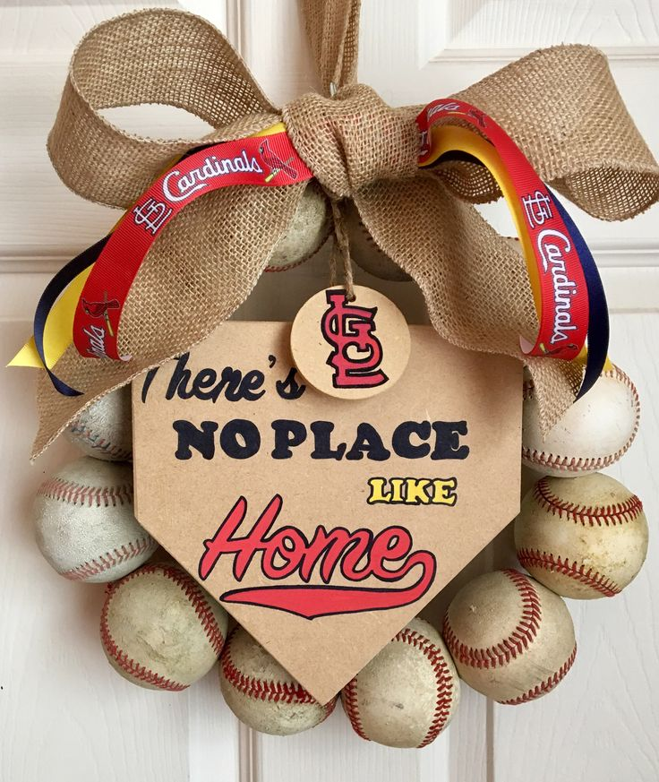 St. Louis Cardinals Baseball Wreath by DoorsGoneWild on Etsy https://www.etsy.com/listing/545481249/st-louis-cardinals-baseball-wreath