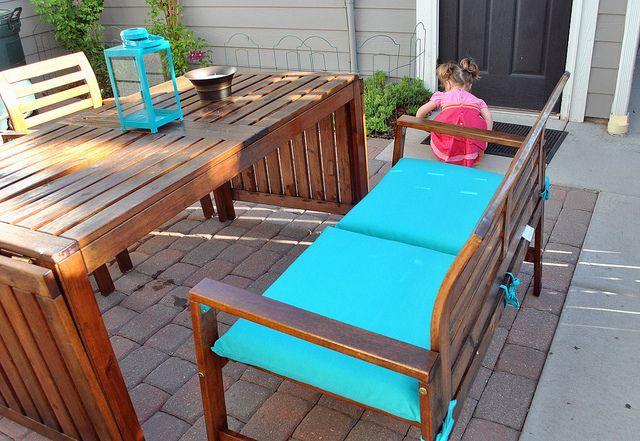Ikea ÄPPLARÖ With Target Outdoor Cushions