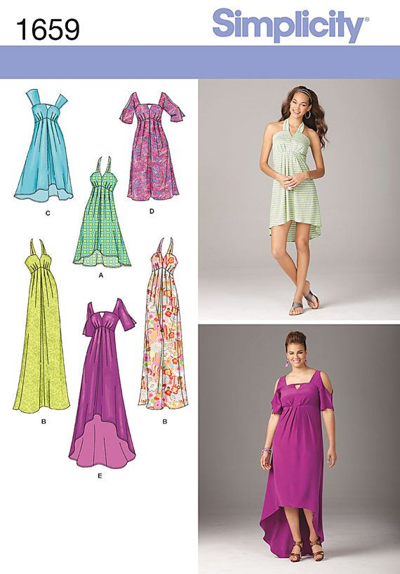 Dress For Day Or Evening Simplicity 1659 New Sewing