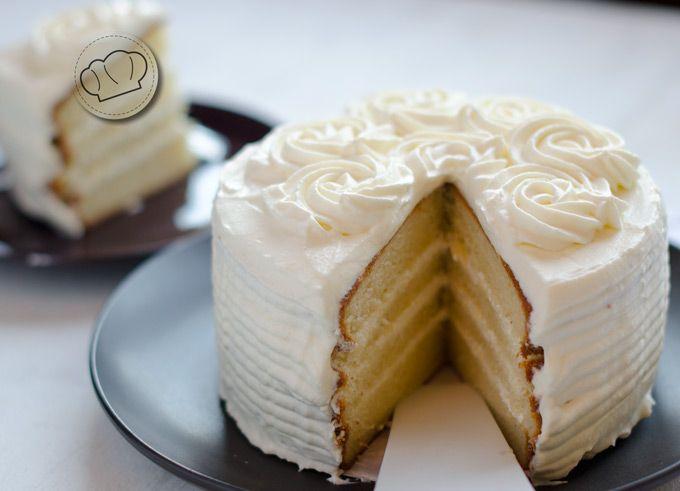 receta de pastel blanco o white cake