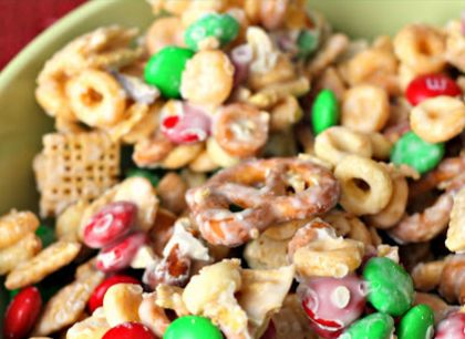 White chocolate chex party mix | Megan's sweet sixteen | Pinterest
