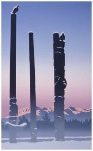 Roy Henry Vickers - Totems in the Mist