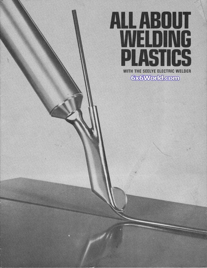 A manual for the Seelye Electric Welder that details how to weld plastic including HDPE utilized in our amphibious six wheeler bodies.