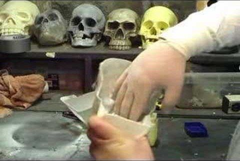 Skulls. We all love 'em. I'm gonna show you how to make a copy of a plastic skull using Hardware store expanding foam. Watch this video prop and special effects-making tutorial and learn how to build a cheap and easy skull for Halloween or a movie set.