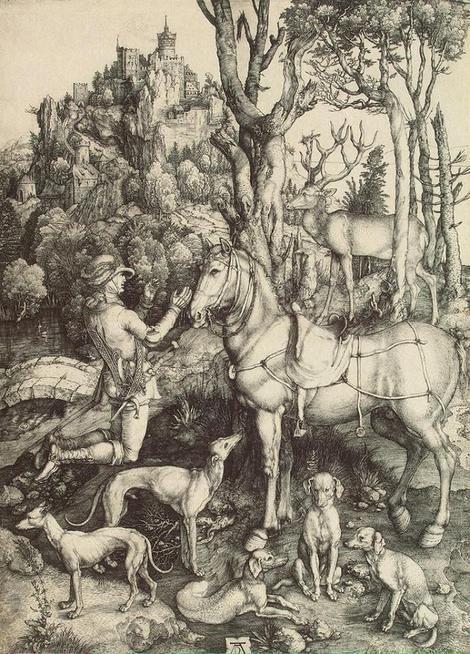 Albrecht Dürer, St Eustathius - 1501 on ArtStack #albrecht-durer #art