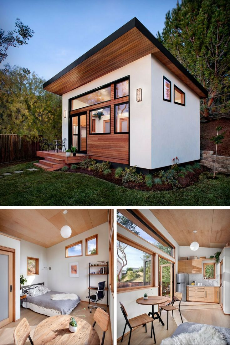 The Britespace Prefab Home A 264 Sq Ft Home That Comes Shipped To You In A Diy Kit Of 64 Components Tiny House Towns Guest House Small Backyard Cottage Mini backyard guest house