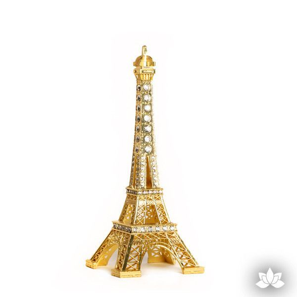 Small Eiffel Tower Cake Topper - Gold