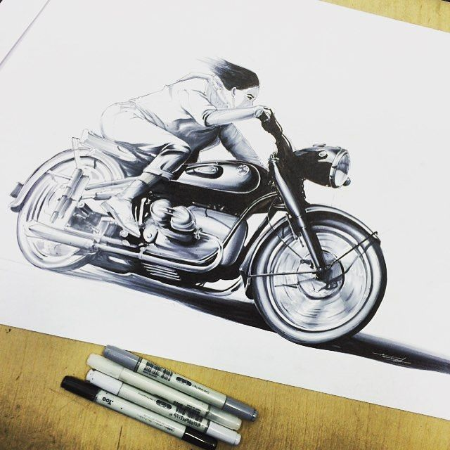 Cafe racer by @trem.art Thanks for tag! #caferacer #moto #speed