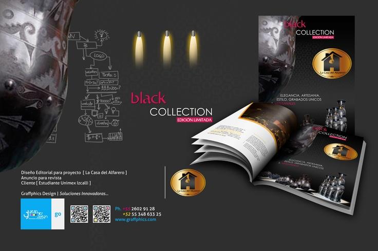 Diseño Editorial para proyecto [ La Casa del Alfarero ] Anuncio para revista Cliente [ Estudiante Unimex Izcalli ]