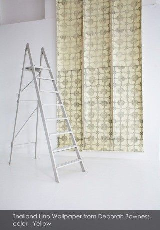 Thailand Lino Wallpaper from Deborah Bowness - An Interview with Philippa Jeffrey