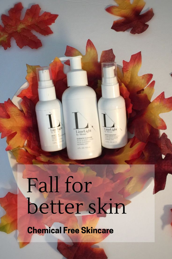 Fall for better skin with organic skincare regimens from LimeLight by Alcone. All skincare products in the LimeLight line are organic, harsh chemical free, and leaping bunny certified.  Formulated with all skin types in mind. Dry skin. Oily skin.