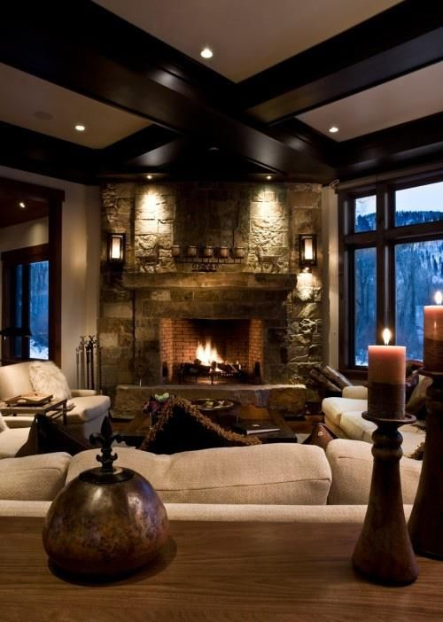 Love the warm feeling of this space.