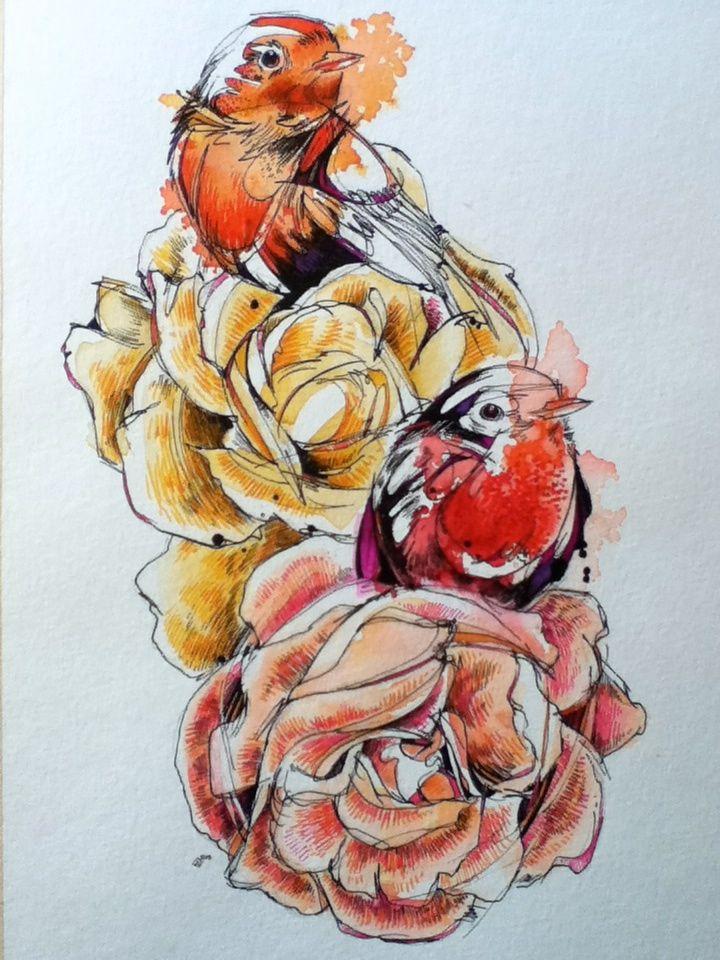 Robins & Roses.