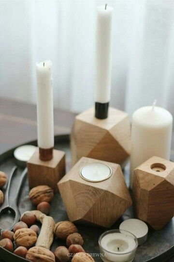 Autumn mood  Candlesticks by CZARY Z DREWNA