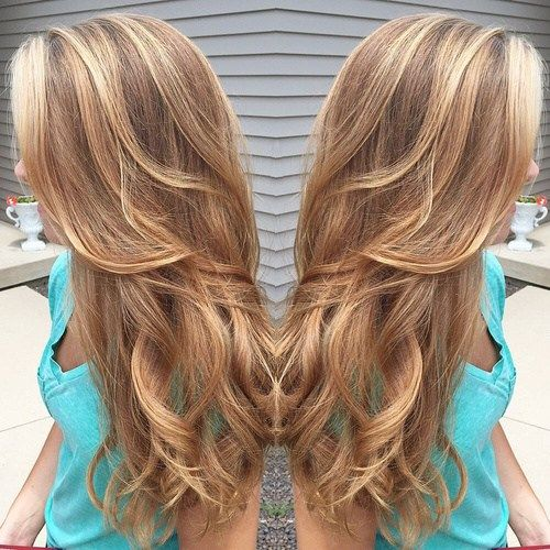 caramel+hair+color+with+highlights