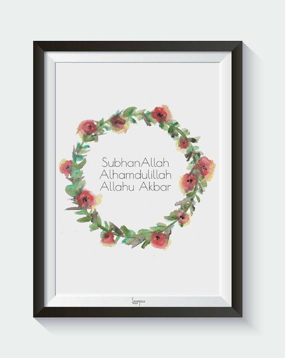 SubhanAllah Alhamdullilah Allahu Akbar Wreath  by SnowpeaDesign
