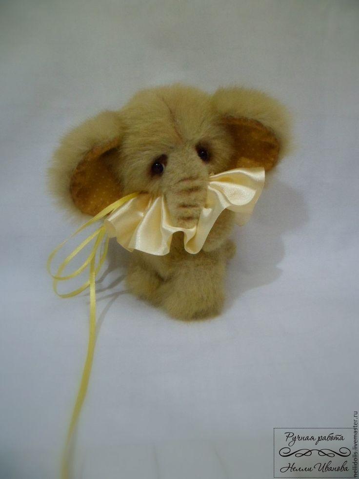 Купить Слоненок Песочек,15 см - желтый, подарок, подарок на любой случай