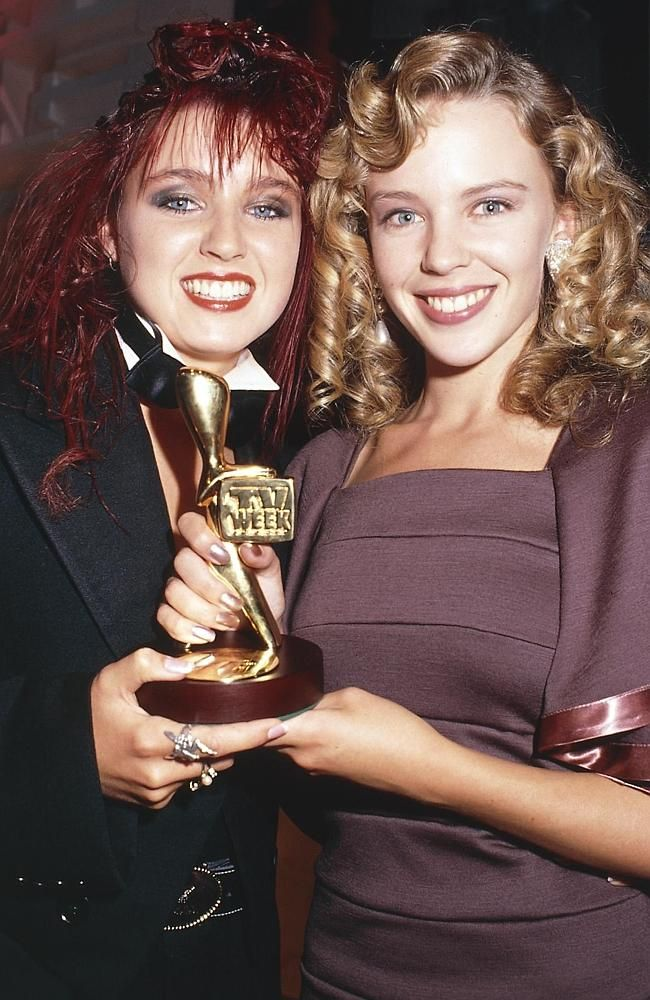 Sister act ... Dannii and Kylie Minogue at the Logies. Picture: Supplied