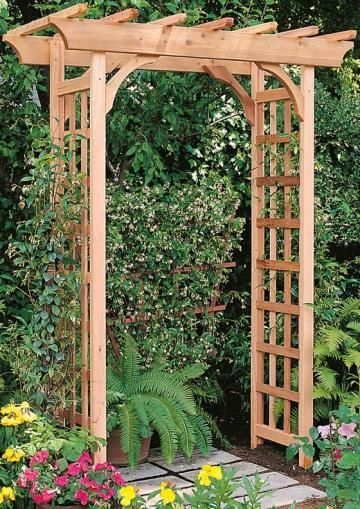 Bancroft Rosedale Arch features rich wood accents and is made in the USA.