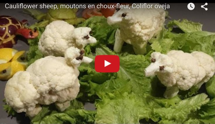 How to Carve Sheep from Cauliflower - VIDEO