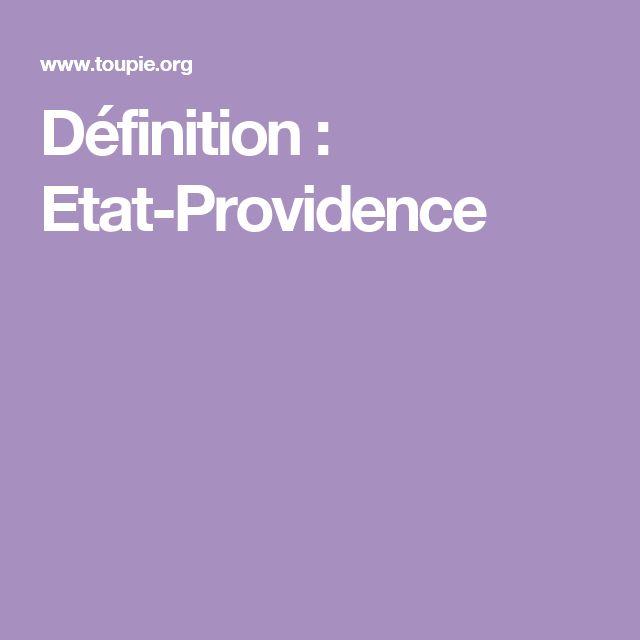 Définition : Etat-Providence