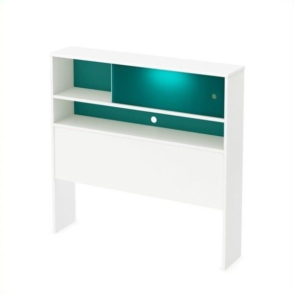 South Shore - Headboards - 9017098 - Furniture that shows its colors! This modern, original piece features a night light behind the plexiglass panel so your ch…