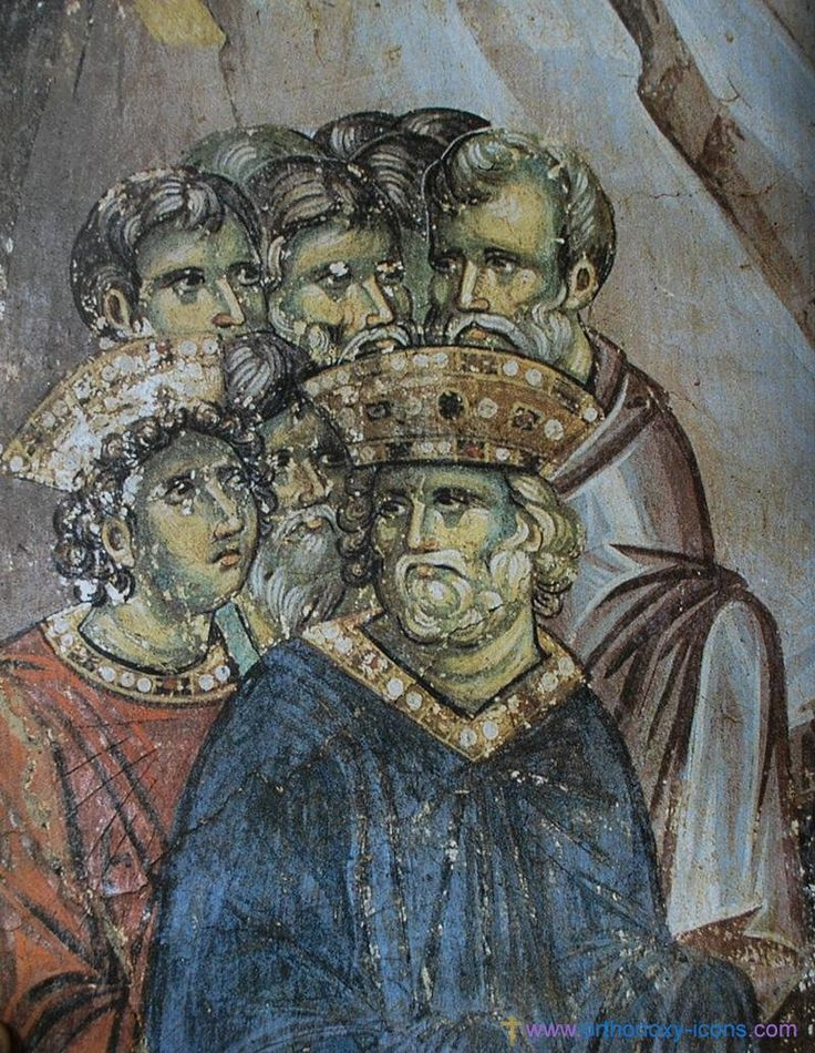 The frescoes of the cathedral Protata in Kars, Athos. - Manuel Panselina. Part V